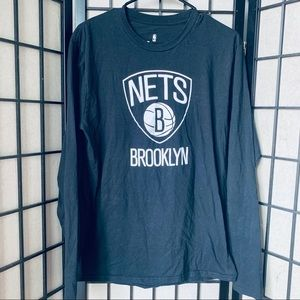 Brooklyn nets fanatics brand long sleeve t-shirt M
